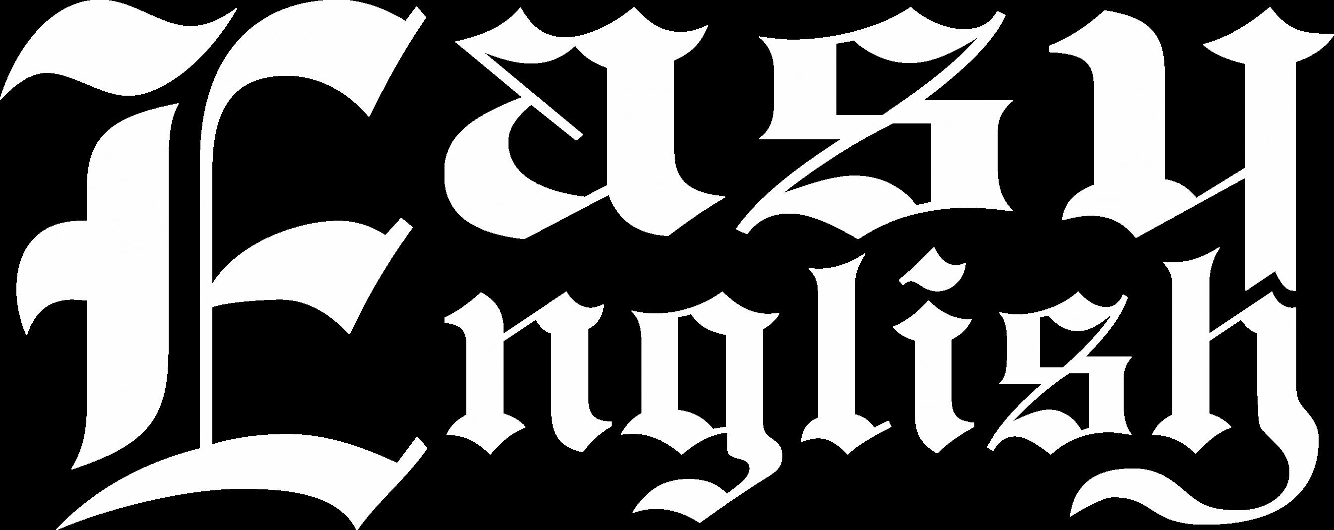 logo easy english białe